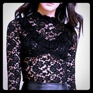 Tops - Long sleeve lace shirt